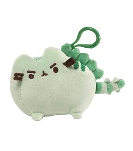 Enesco- Gund- Peluche Pusheen Dinosauro Con Clip - Verde - 6X8X9 Cm