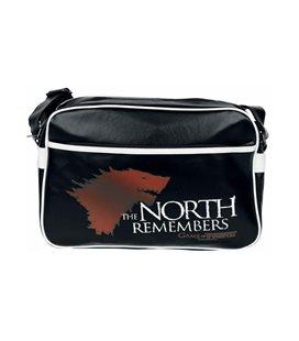 Abystyle - Game Of Thrones - Il Trono Di Spade - Messenger Bag The North Remembers - Vinyl - Borsa Grande Con Tracolla