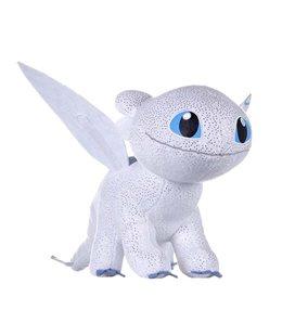 How To Train Your Dragon 3 Plush Figure Light Fury Glow In The Dark 32 Cm - Furia Bianca
