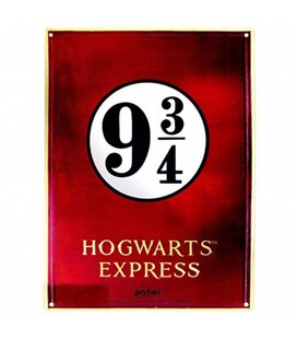 Harry Potter - Abystyle - Metal Plate - Placca In Metallo - Binario 9 3/4 - Hogwarts