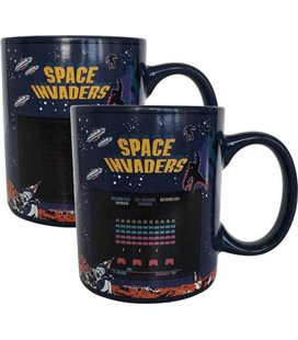 Space Invaders - Mug Heat Change/Tazza Termica Space Invaders 300Ml